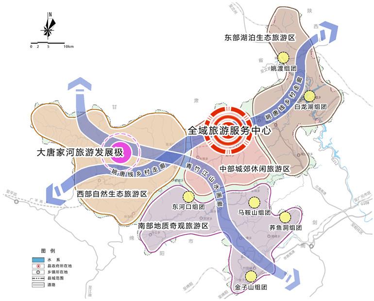 青川县全域生态亿博电竞app目的地规划空间布局图